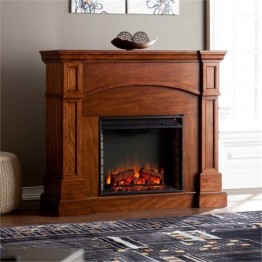 Bowery Hill Convertible Electric Fireplace in Oak