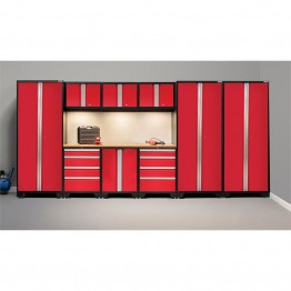 NewAge Products Bold 3.0 Series 10 Piece Cabinet Set in Red