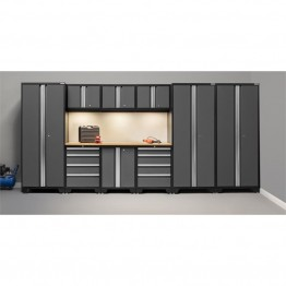 NewAge Products Bold 3.0 Series 10 Piece Cabinet Set in Gray
