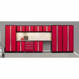 NewAge Products Bold 3.0 Series 12 Piece Cabinet Set in Red