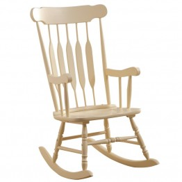 Coaster Rocking Chair in Pastel Yellow