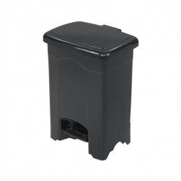 Safco Plastic 4 Gallon Step-On Trash Can in Black
