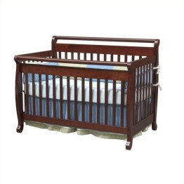 DaVinci Emily 4-in-1 Convertible Crib with Full Bed Rails in Cherry