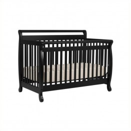 DaVinci Emily 4-in-1 Convertible Crib with Full Bed Rails in Ebony