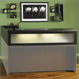 "Mayline Aberdeen 72"""" Reception Transaction Counter Screen-Mocha"