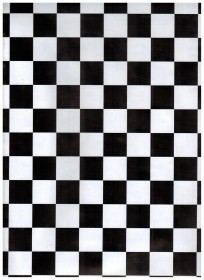 Black White Tiles Contact Paper