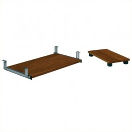 Bestar Embassy Keyboard Shelf and CPU Platform in Tuscany Brown