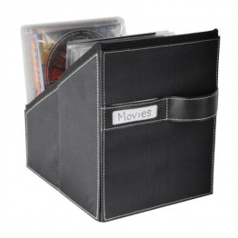 Atlantic Inc Media Living Movie Bin With 36 Sleeves Leather Look