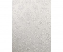 Embossed Floral Damask White 266712 Wallpaper