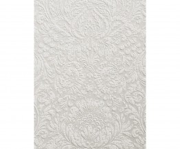 Ornated Embossed Floral Prints White 266811 Wallpaper