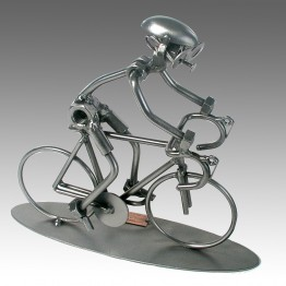 Bike Racing Nuts and Bolts Sculpture