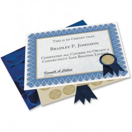 Geographics Blue Spiral Certificate Kit (Set of 25)