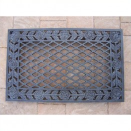 Oakland Living Tea Rose Cast Aluminium Doormat in Verdi Gray