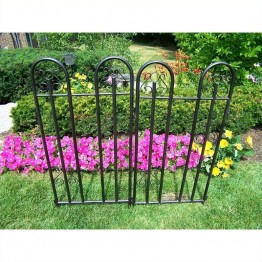 Oakland Living Garden Fence in Hammer Tone Brown (Set of 2)