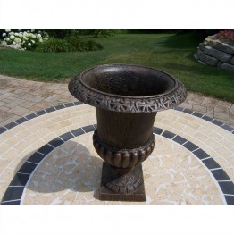 "Oakland Living 18"""" Roman Urn in Antique Bronze"