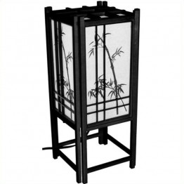 "Oriental Furniture 18 """" Bamboo Tree L in Black"