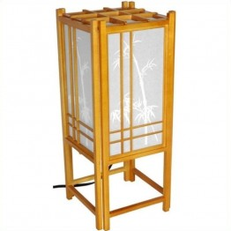 "Oriental Furniture 18 """" Bamboo Tree L in Honey"