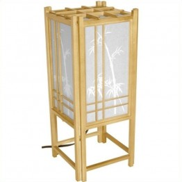 "Oriental Furniture 18 """" Bamboo Tree L in Natural"