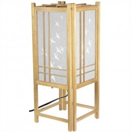 "Oriental Furniture 18 """" Cranes Shoji L in Natural"