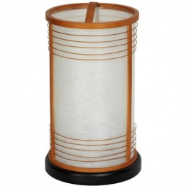 "Oriental Furniture 13 """" Shinjuku Japanese Shoji Lantern in Natural"