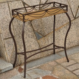 International Caravan Valencia Resin Potting Bench in Honey Pecan