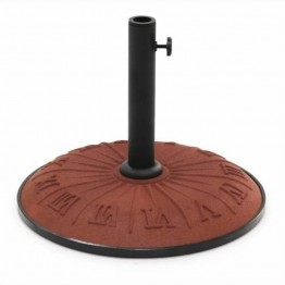 International Caravan Roman Resin Patio Umbrella Base-Chocolate