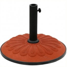 International Caravan Sunflower Resin Patio Umbrella Base-Forest Green