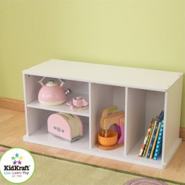 KidKraft Storage Unit with Shelves in White