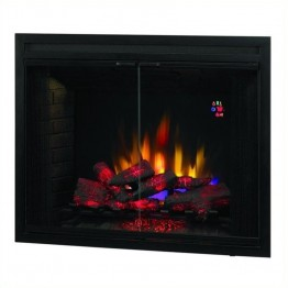 "Classic Flame Builders Box 39"""" LED with Swinging Doors in Black"