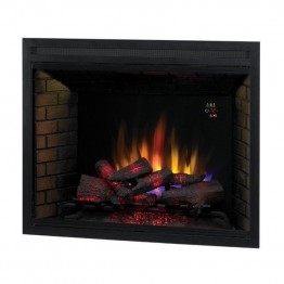 "Classic Flame Builders Box 39"""" LED with Fixed Glass in Black"