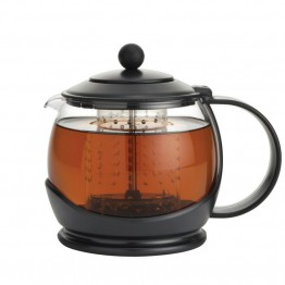 BonJour Tea Glass Teapot in Black