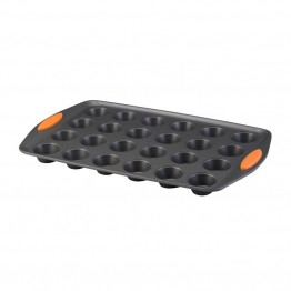 Rachael Ray Yum-o Nonstick 24 Cup Muffin Pan in Gray and Orange