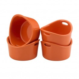 Rachael Ray Stoneware Ramekin in Orange (Set of 4)