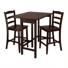 Winsome Lynnwood 3 Piece Dining Set in Antique Walnut Finish