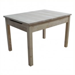 International Concepts Unfinished Kids Table with Storage