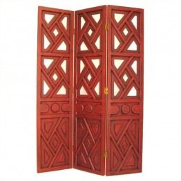 Wayborn Wiindmill Room Divider in China Red