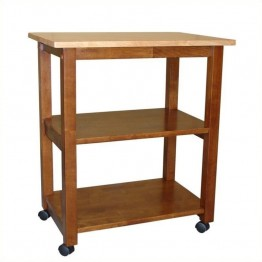 International Concepts Microwave Cart in Cinnamon/Espresso