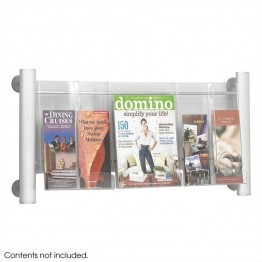 Safco Luxe 3 pocket  Magazine Rack in Silver