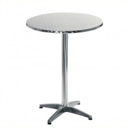 "Eurostyle Allan 27.5"""" Bar Table in Stainless Steel and Aluminum"