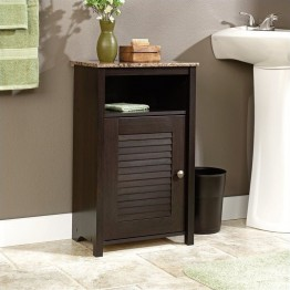 Sauder Peppercorn Floor Cabinet in Cinnamon Cherry