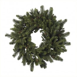 "Nearly Natural 30"""" Pine and Pinecone Wreath in Green"