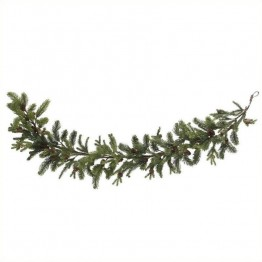 "Nearly Natural 60"""" Pine and Pinecone Garland in Green"