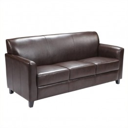Flash Furniture Hercules Diplomat Leather Sofa in Brown