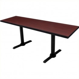 Regency Cain Rectangular Training Table in Mahogany