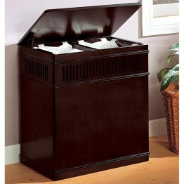 Coaster Wood Laundry Hamper in Cappuccino