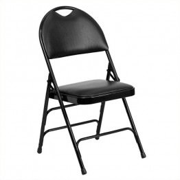 Flash Furniture Hercules Metal Folding Chair in Black