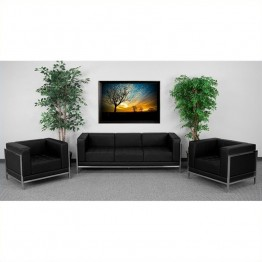 Flash Furniture Hercules Imagination Sofa and Chair Set in Black