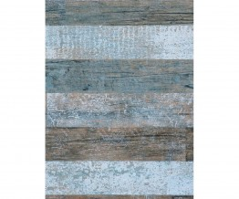 Brown Light Teal Timber Wallpaper