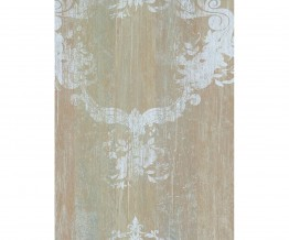 Taupe Red Damask Serenity Wallpaper