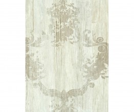 Cream Taupe Damask Serenity Wallpaper